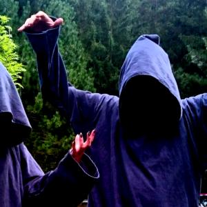 Grey monk's robes. Chaos Descends, Crispendorf, 2017.